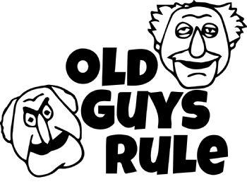 Old Guys Rule Car Sticker Funny Vinyl Decals Van Motorbike Fairings Panniers
